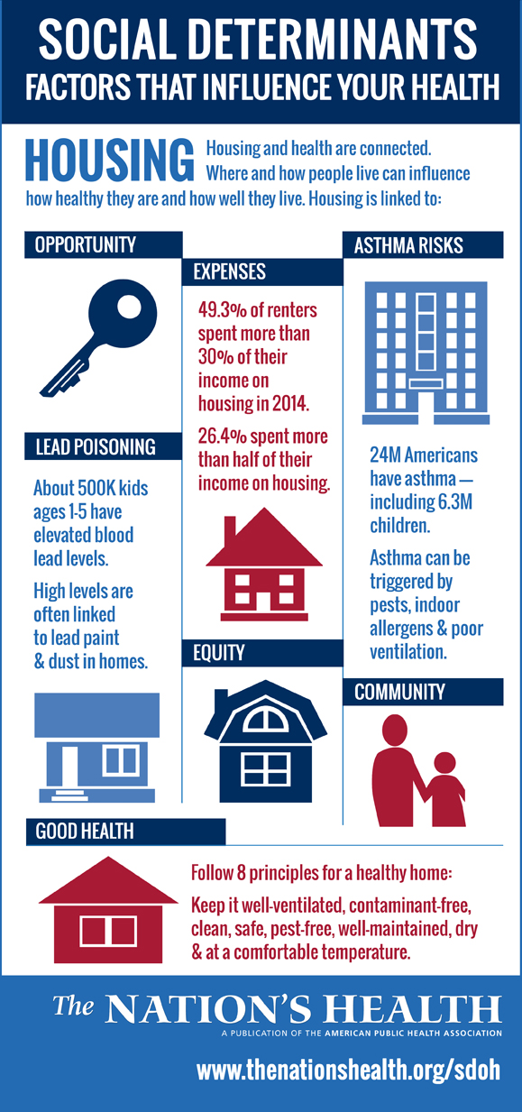Housing infographic social determinants of health