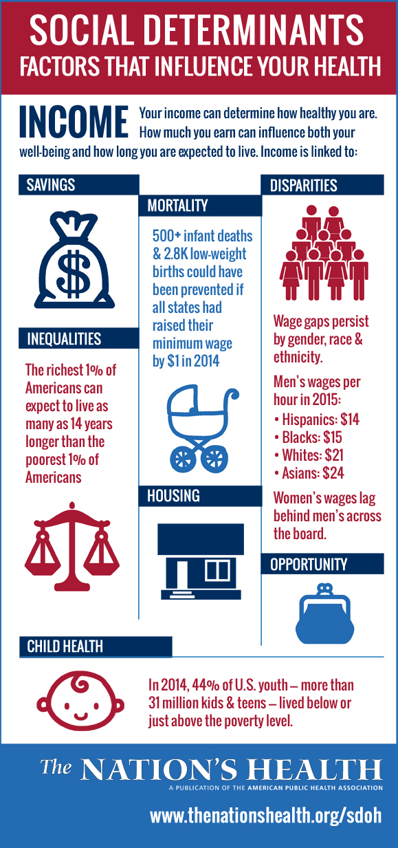 Income infographic social determinants of health
