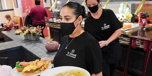 Women restaurant servers